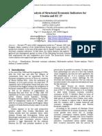 Multivariate Analysis of Structural Economic Indicators for Croatia and EU 27 (Zivadinovic, 2009)