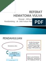 Ppt Referat Obgin Hematom Vulva