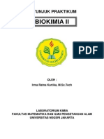 Petunjuk Praktikum Biokimia II
