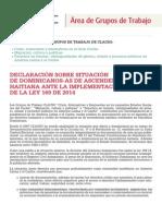 DECLARACIÓN SOBRE SITUACIÓN DE DOMINICANOS/AS DE ASCENDENCIA HAITIANA ANTE LA IMPLEMENTACIÓN DE LA LEY 169 DE 2014
