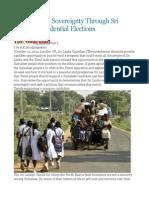 Taking Tamil Sovereignty Through Sri Lankan Presidential Elections
