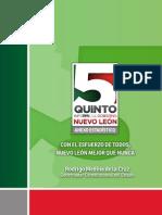 Quinto Informe de Gobierno | Administración 2009-2015 | Gobierno del Estado de Nuevo León - Anexo estadístico
