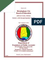 Birmingham City Schools FY 2013 Audit