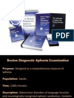 Boston Diagnostic Aphasia Examination