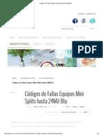 Códigos de Fallas Equipos Mini Splits hasta 24Mil Btu.pdf