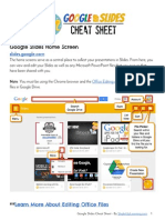Google Slides Cheat Sheet