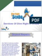 Services Of Dive Right In Scuba
