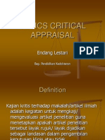 Basics Critical Appraisal