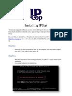 Installing IPCop