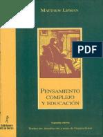 Lipman Pensamiento complejo y educación.pdf