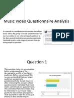 Media Studies- Questionnaire Analysis