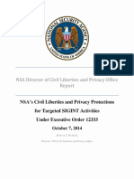 Targeted SIGINT Activities Under Executive Order 12333
