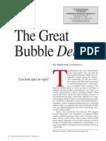 The Great Bubble Debate