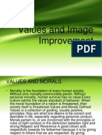 Values and Image Improvement