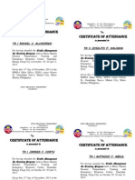 Certificate of Attendance (Re-training.) Batch 4