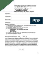 Softball Registration Form
