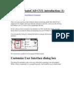 Exploring AutoCAD CUI
