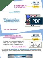 CUESTIONES DEL Dº A LA INFORMÁTICA, CONTRATOS RELATIVOS A LA INFORMÁTICA-UCH 2014 II.pptx