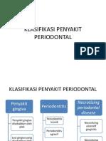 Klasifikasi Peenyakit Periodontal Baru