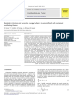 Rayleigh Criterion and Acoustic Energy Balance in Unconfined Self-sustained Oscillating Flames - Durox