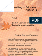 9_Student Appraisal and Counsellor's Accountability
