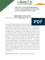 PRÁTICAS PEDAGÓGICAS E AVALIAÇÃO DO PROCESSO DE  ENSINO-APRENDIZAGEM
