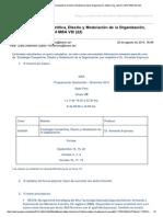 Programación MBA 22 Trimestre IV 2014-09 a 2014-10