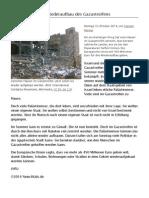 Europa Hilft Beim Wiederaufbau Des Gazastreifens