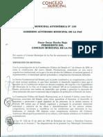 Ley Municipal Autonómica N° 100 - Protección al derecho de ejecución de obras musicales.pdf