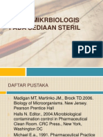 Aspek Mikrbiologis Pada Sediaan Steril