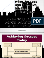 Achieving Success Through Effective Business Communication by:- PANKAJ SOLANKI PGPSE