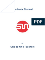 Academic Manual for One to One Teachers