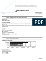Denatured Alcohol, BI GHS 2012
