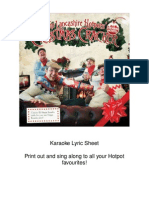 Karaoke Lyric Sheet