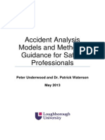 Accident Analysis Models and Methods - Guidance for Safety Professionals