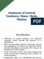 Centra Tendency