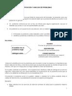 IDENTIFICACIÓN Y ANALISIS DE PROBLEMAS