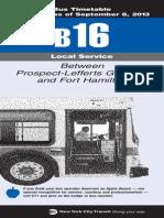 B16 Bus Secdule