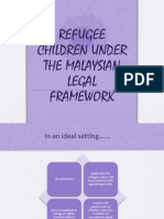 Refugee Children Under the Malaysian Legal Framework