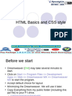 Website Deisgning Basics - HTML and CSS Style