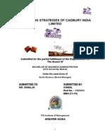 Marketing Strategies of Cadbury India Limited