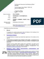October IWC full council meeting Agenda