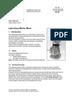 Laboratory Mixer Manual