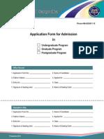 Sargodha University Admission Form