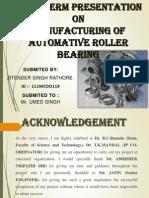 A Presentation on bearing