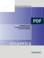 SINAMICS G150 Operating Instructions 0707 Eng