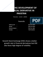 research on uses of derivative in pakistan by saifullah