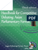 JDF Handbook for Asian Parliamentary Third Edition