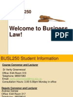Lecture 1 Introduction to Business Law and the Australian Legal System