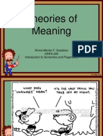 Theories of Meaning